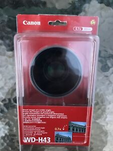 NEW CANON WD-H43 Wide Angle Converter Lens 0.7X 43mm Japan Made