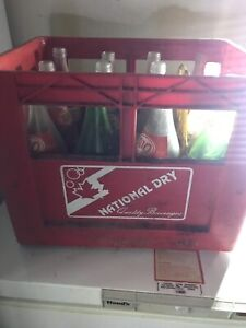 Old bottles and case