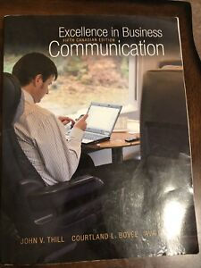 Excellence in Business Communication 5th Canadian Edition