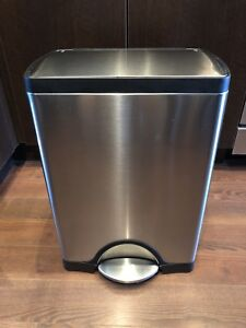 simplehuman Stainless Steel 30-Liter Trash Can