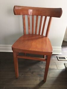 Vintage Curved Back Wooden Dining, Accent or Desk Chair