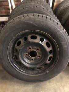 195/65/15 snows on steel wheels Mazda 3