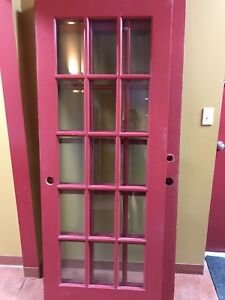 4 Glass panelled doors