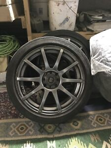 "Mags 17 ""inches 4 bolts universal with tires 215/45/17"