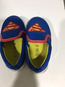 Superman Canvas Slip On Casual Shoe Size 5