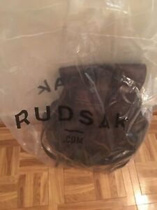 Rudsak - brand new unisex brown leather backpack bnwt