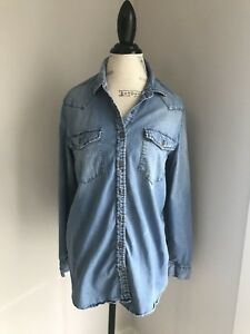 Gap Maternity Jean Shirt L EUC