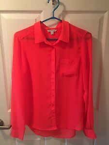 American Eagle Neon Pink Blouse