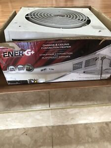 Garage ceiling convection heater fan 5000 Watts