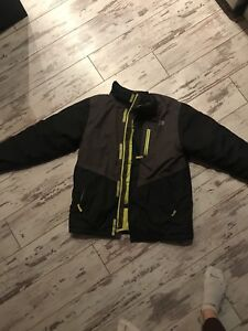 North face jacket and under armour jacket