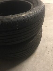 Two 205/60R16 92H tires