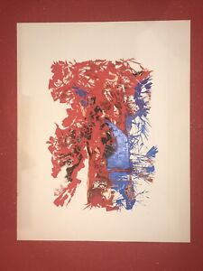 Mid century modern Serigraph painting for 1970