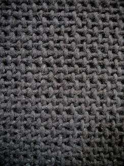 New Dark Grey Woven Cross Weave Textured Wool Rug Collection Rugs Richmond Yarra Area Preview
