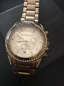 Authentic Michael Kors Blair conograph gold-tone watch.