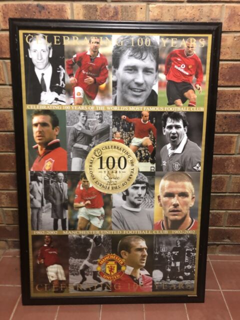 a1e7d688f Soccer  47 football poster Manchester united 100 years