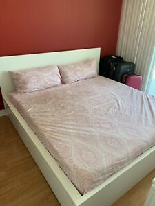 IKEA King Bed Frame & Memory Mattress