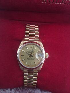 Rolex Datejust 18ct Gold Automatic  Ladies