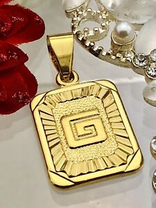 New! Gold coloured initials letter G pendant charm