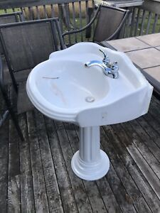 Antique Pedestal Sink