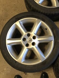 "NISSAN 18"" ORIGINAL MAGS WITH TIRES 5X114.3"