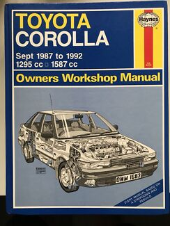Toyota Corolla Haynes Owners Workshop Manual Lane Cove Lane Cove Area Preview