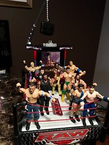 WWE Raw Electronic wrestling ring with 10 Wrestlers