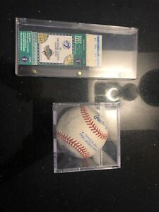 1993 Blue Jays Team Signed Official World Series ball and ticket