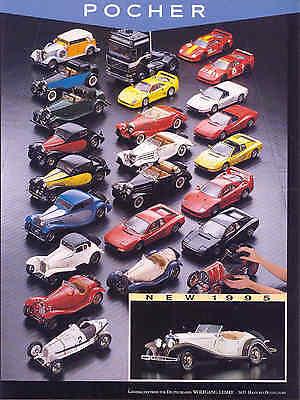 POCHER ...Werbeanzeige, AUTO-MODELLE in 1:8..1995, Zeitungsanzeige gebraucht kaufen  Deutschland