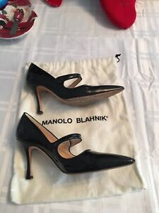 Manolo Blahnik Patent leather Mary Jane size 35