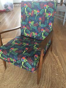 Danish Mid century Re-upholstered chair!