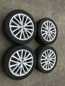 "17"" OEM VW Alloy Wheels w/ Dunlop All Season Tires"