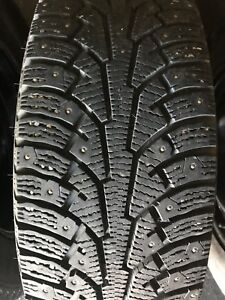 Winter studded tires 215/65/16 with Rims/cups