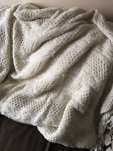 Large knitted blanket