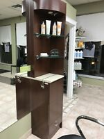 Styling stations and display unit