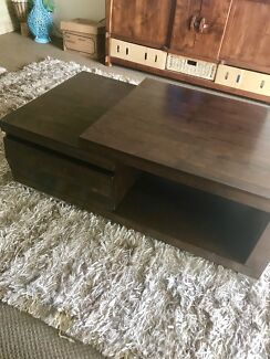 Cool, unique, retro, mahogany coffee table