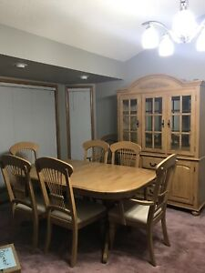 Dinette set with China cabinet