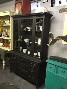 VINTAGE REFINISHED CHINA HUTCH $380