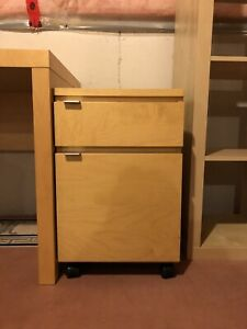IKEA Malm Desk Drawers, Lack Coffee Table, Office Chair