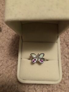 Charm Diamonds Butterfly Ring