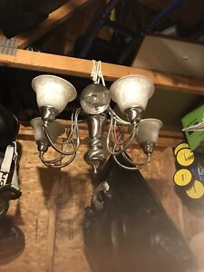 3 chandeliers  $50 for all three