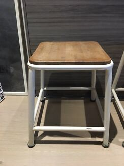 Two industrial stools/side tables