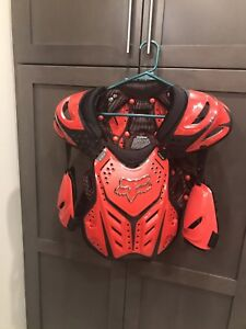 Boys FOX chest protector dirt bike ATV and Fox Gloves