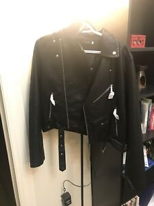 Nasty Gal Cropped Womens Leather Jacket