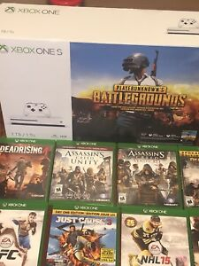 Xbox one S plus 15 games & extra controller