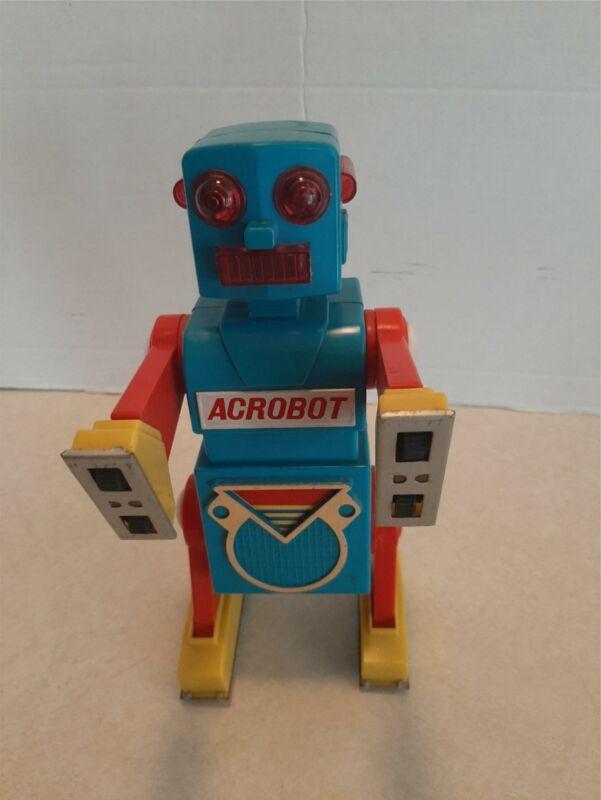 """Vintage 1968 Yonezawa Japan Acrobot Robot 9.5"""" Working Hard To Find See Video C2"""