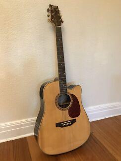 Acoustic guitar Ashton D65SCEQ (solid spruce top)