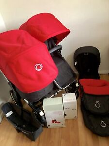 Bugaboo Donkey Duo Pram Accessories Double New Res Fabrics New Leather
