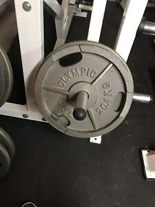 WEIGHT PLATES.  2 inch holes.  Steel.  Olympic