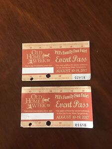 2 old home week tickets