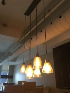 Elegant multi pendant light fixture